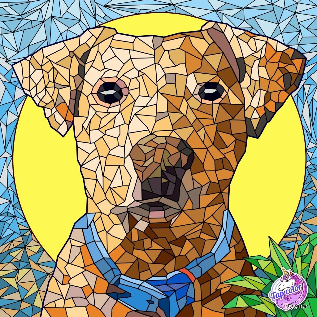Mosaik Hund