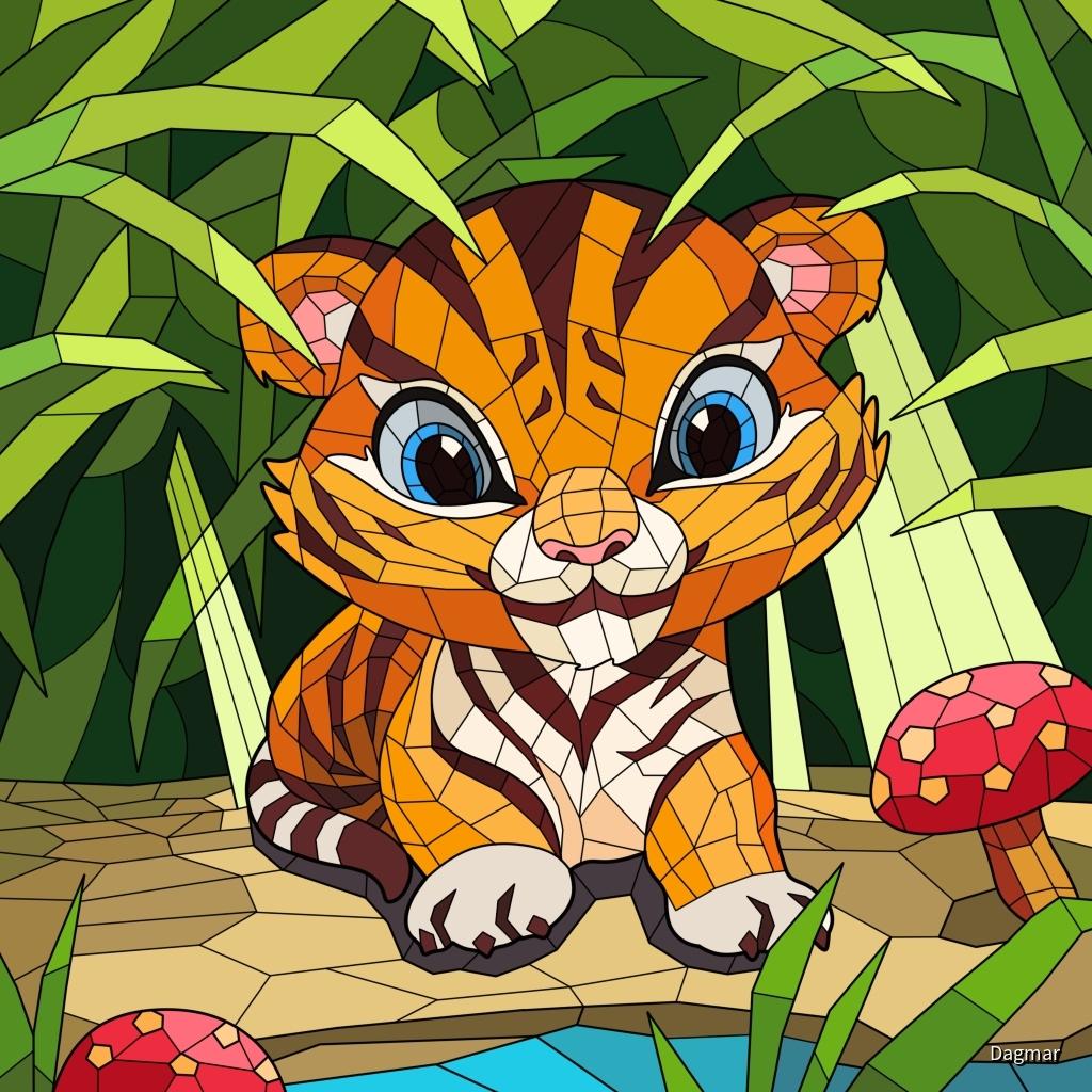 Mosaik Tigerchen