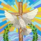 Mosaik Friedenstaube
